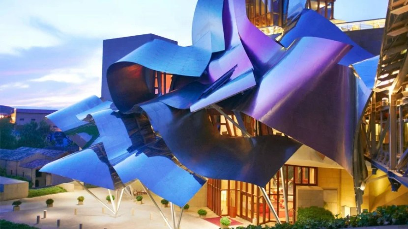 The Gehry-designed Hotel Marqués de Riscal, Elciego, a Starwood Luxury Collection Hotel.