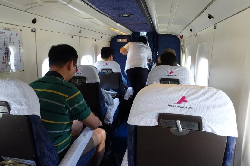 The plane is quite small, but it was comfortable enough for an hour-long flight.
