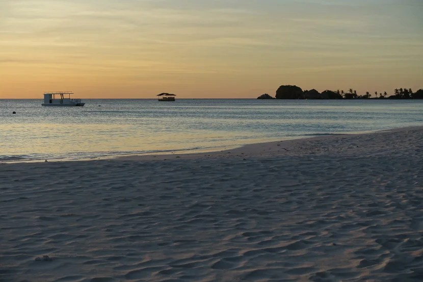 Set off the shore with a great view of the sunset, the Kawayan Bar looked nice — but not worth the nearly $200 setup fee.