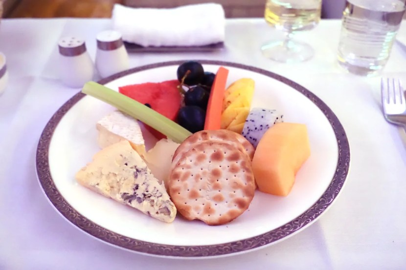 After the main course, I tried a sampling of cheeses.
