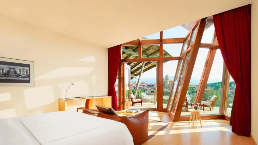 The Gehry suite offers breathtaking views and cool design touches.