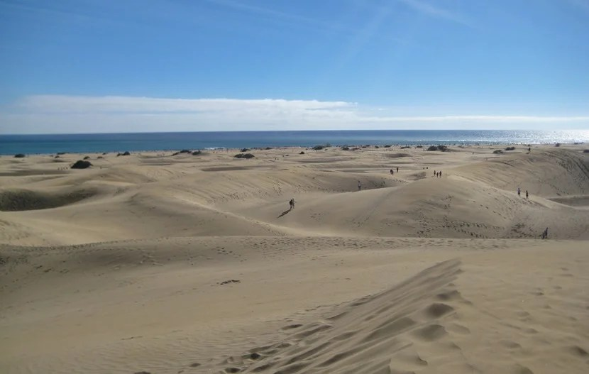 The sand dunes in Maspalomas, Gran Canaria. Image courtesy of Lori Zaino.