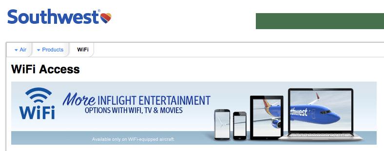 A-List Preferred members enjoy free in-flight WiFi.