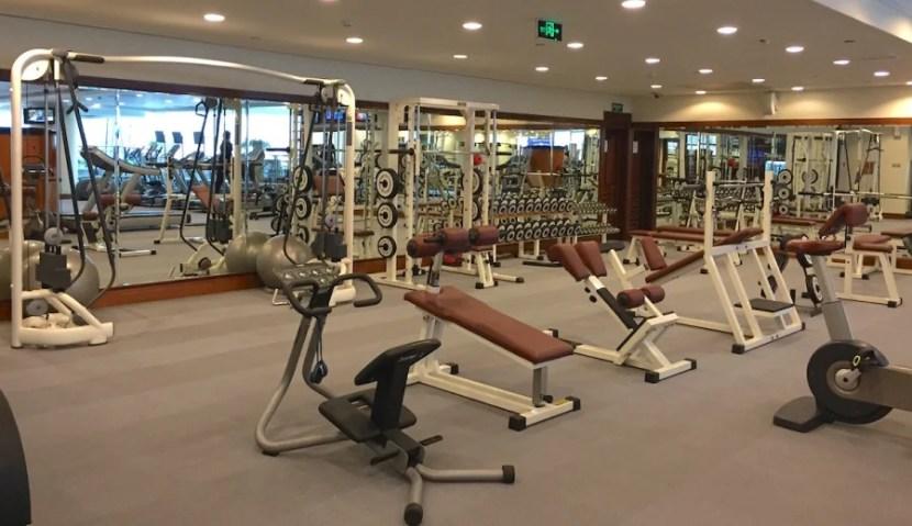 The gym was nice and big.