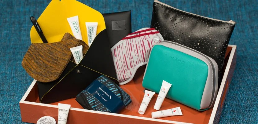 Travelers in premium seats will get amenity kits from Cole Haan.