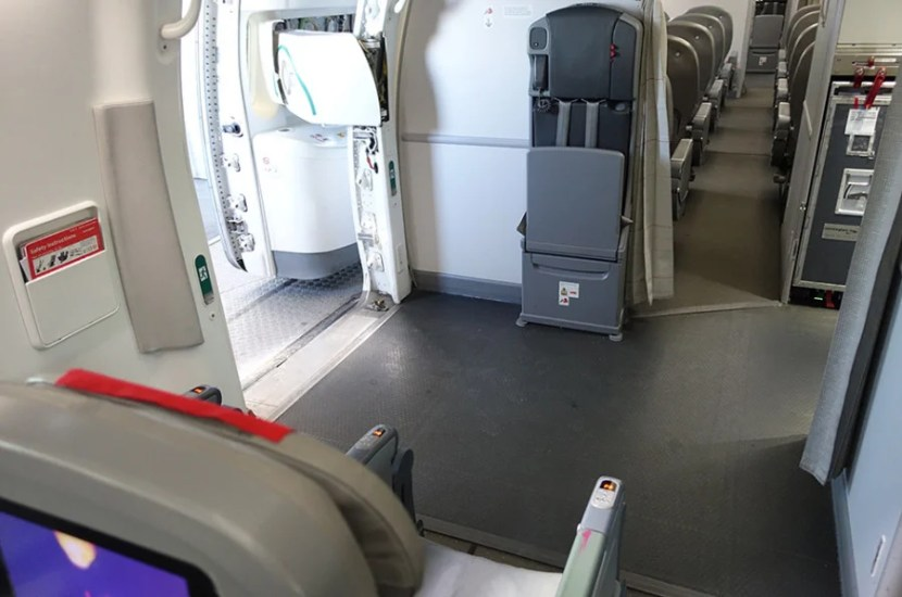 All of the legroom for seats A, B and C in row 6.