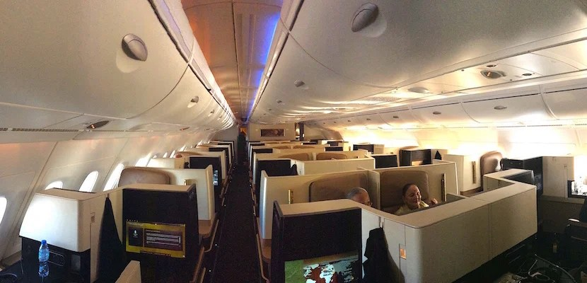 Etihad business cabin feat