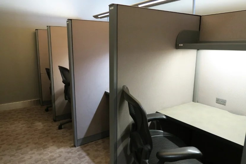 Work stations provided a quiet, comfortable place to work.