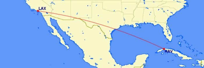 Alaska's planned Cuba routes.