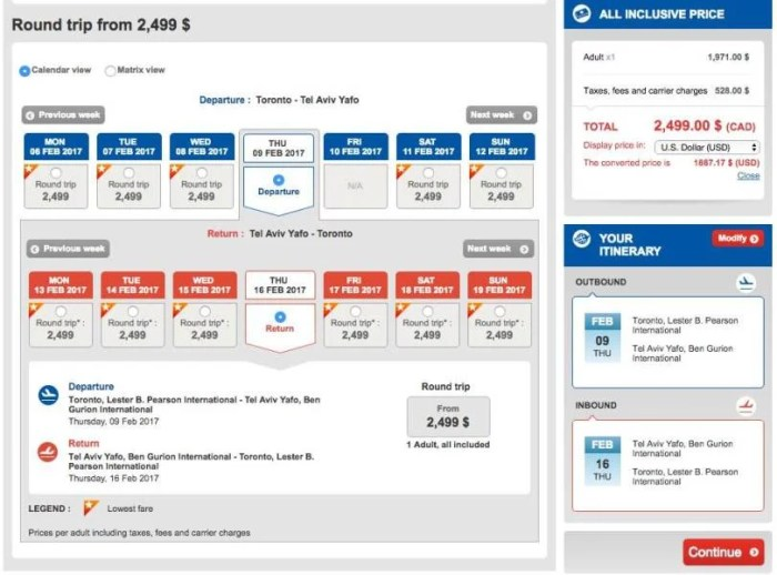 Toronto (YYZ) to Tel Aviv (TLV) for $1,887 in Turkish business class.
