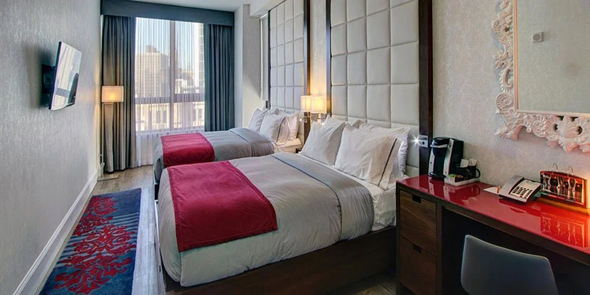 A sneak peek of a room at the Hotel Indigo Brooklyn. Image courtesy of IHG.