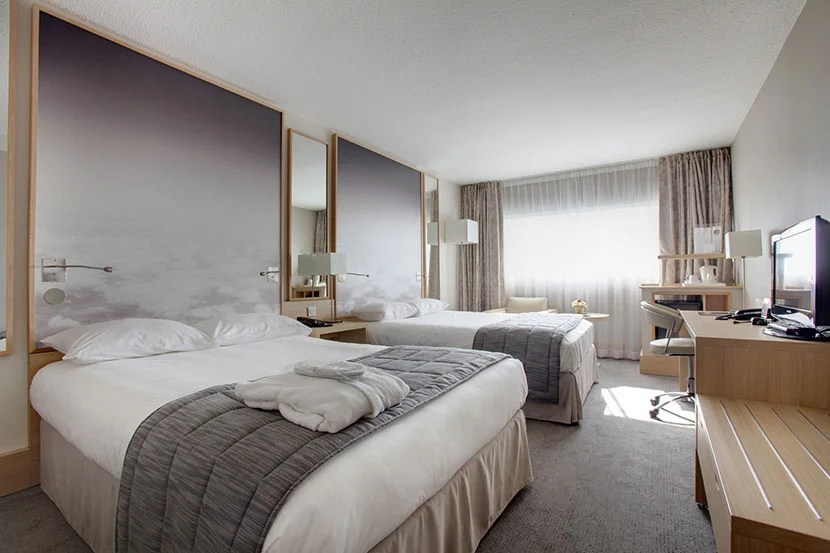 A superior double guest room at the Hôtel Best Western Paris CDG Airport. Image courtesy of the hotel.
