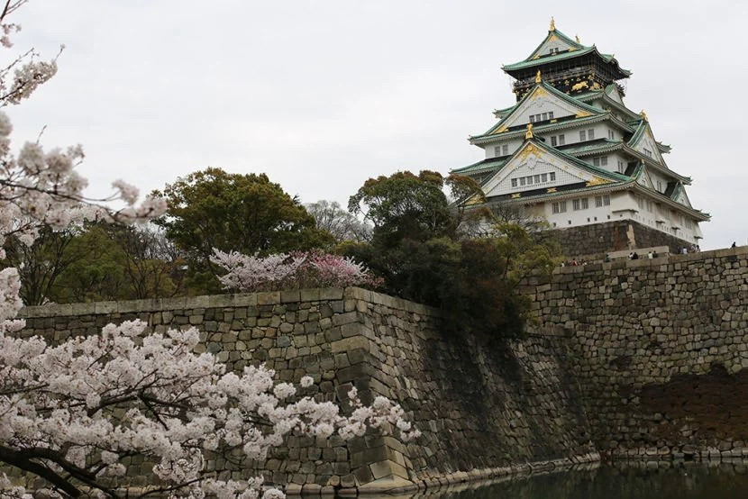 The Osaka Castle is stunning.