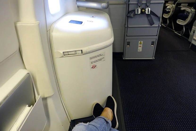Look at all that leg room!