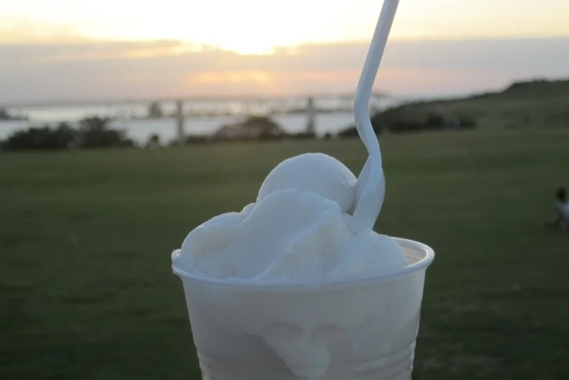 Nothing hits the spot like a coconut ice cream at dusk on a balmy evening in Old San Juan.
