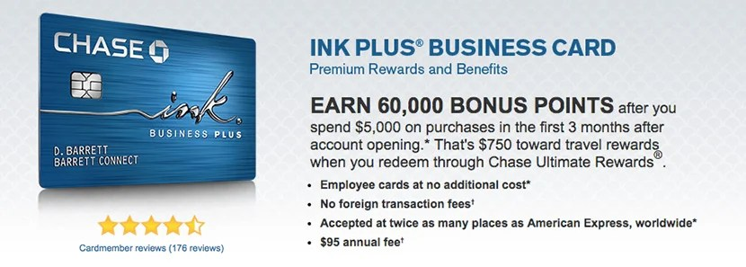 The Chase Ink Plus Business Card is a great option if you spend a lot at gas stations or office supply stores.