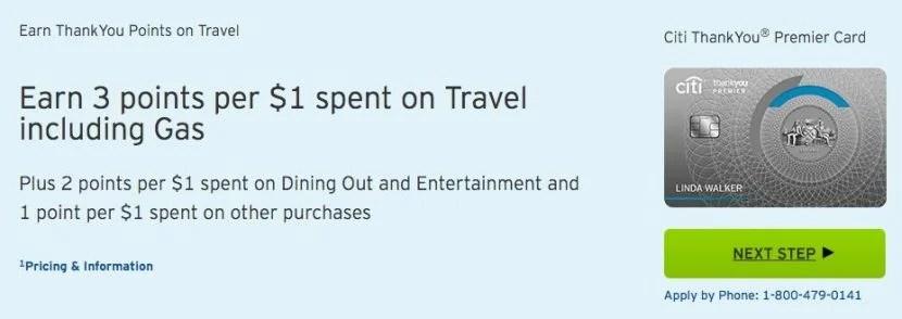 Citi's ThankYou Premier card no longer offers a sign-up bonus.