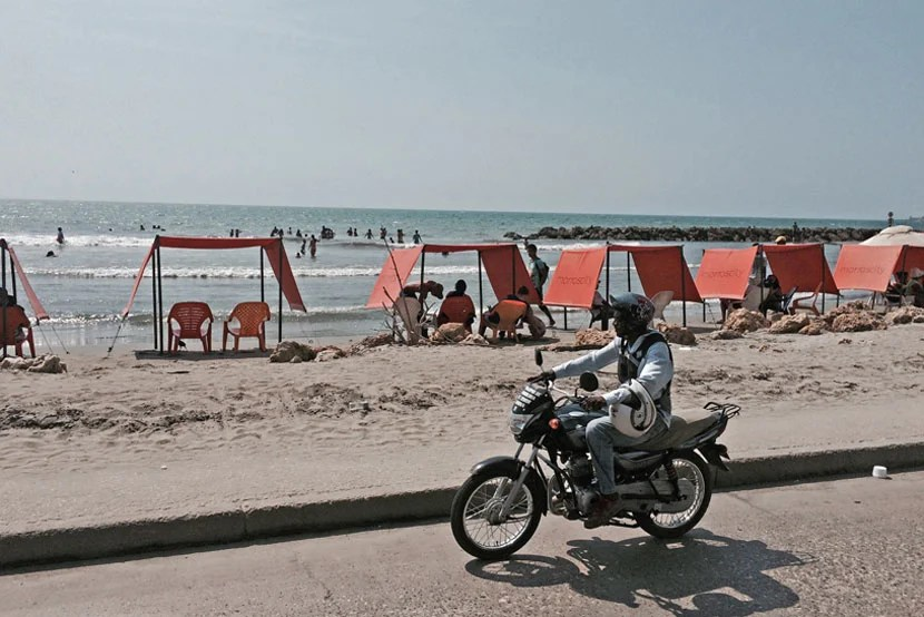 Cruising by Cartagena's beaches on a motorbike could be a fun way to spend the day.