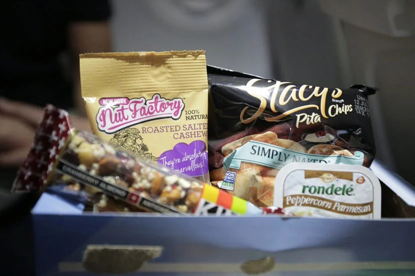 I loved trying all the snack options on JetBlue. This one was called the ShakeUp box.