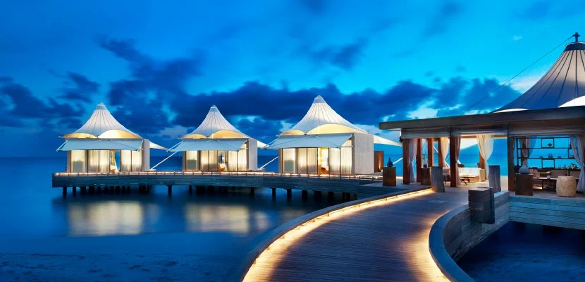 Use the Starpoints you earn from these cards' sign-up bonuses to stay at properties across the globe, like the W Retreat & Spa Maldives.
