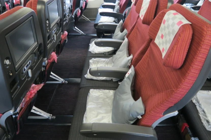 54D was a normal middle-section aisle seat. The pitch and width made the flight very comfortable.