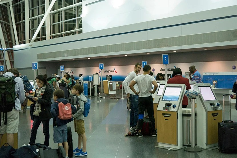 The main check-in area at JFK.