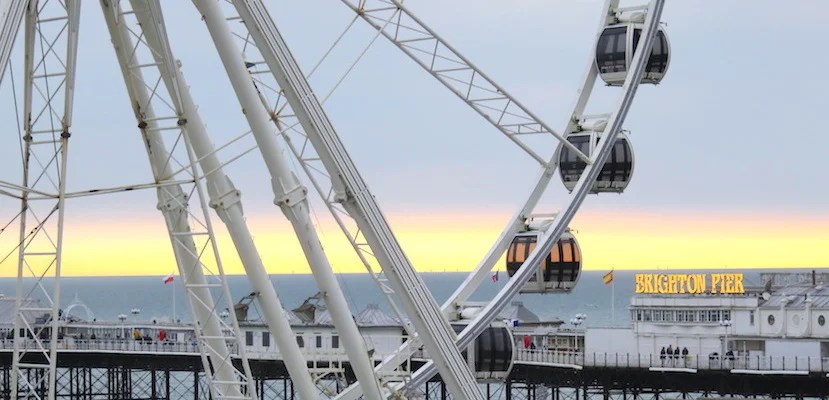 Head to Brighton's famous waterfront pier for a wheel good time. (All photos by Kelsy Chauvin.)