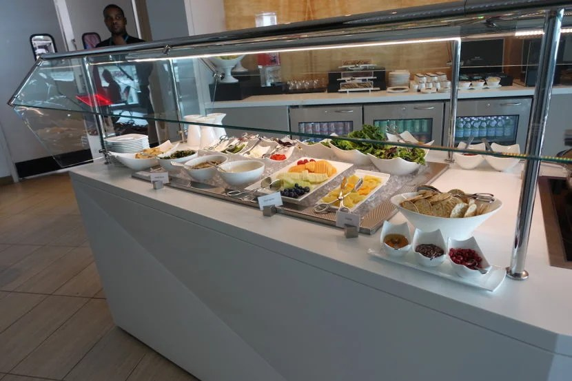 Another shot of the buffet with the drinks behind.