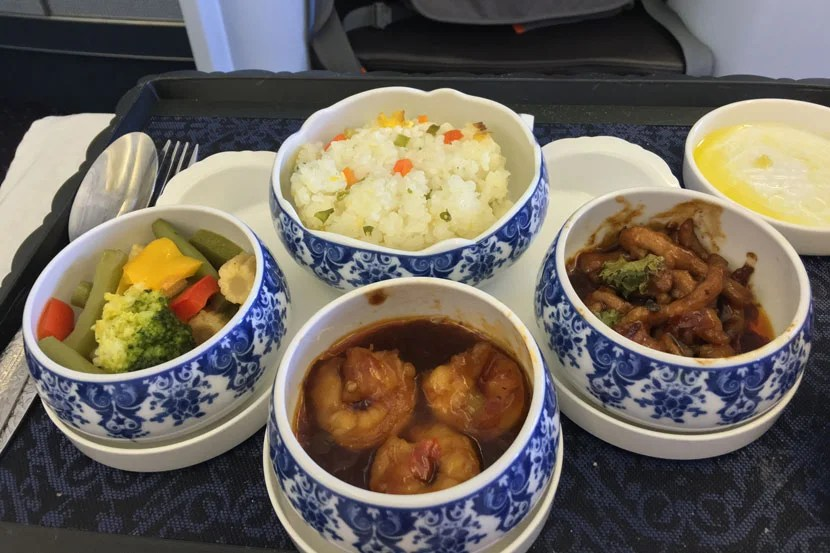 I loved the mini-bowl presentation of the Chinese meal.