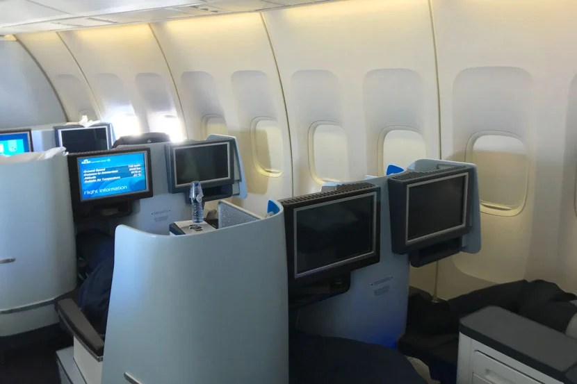 The 2-2 layout throughout most of the business-class cabin just isn't competitive these days.