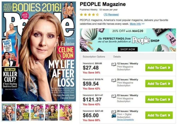 Earn 6,000 miles with a one-year subscription to People.