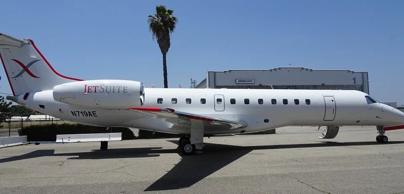 JetSuiteX's Embraer E135 at Burbank.