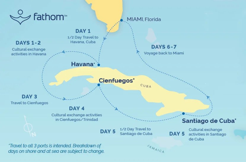 Here's a look at Fathom's Cuba cruise itinerary.