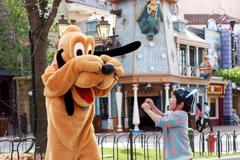 You can meet Pluto along Mickey Avenue, Shanghai Disneyland's answer to Main Street USA.