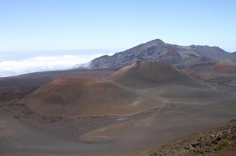 The otherworldly landscape of Maui's Haleakalā Volcano crater, which Karen will never see from her honeymoon beach cabana.