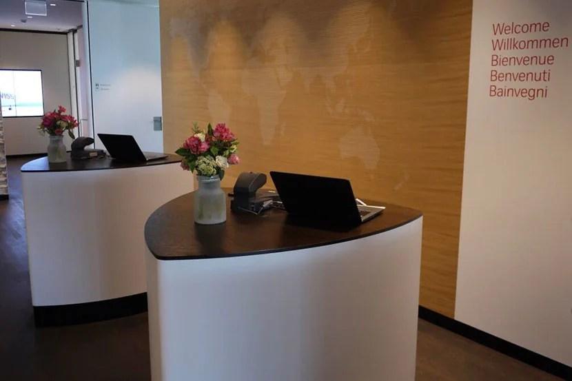 Swiss First Lounge Entrance in Zurich