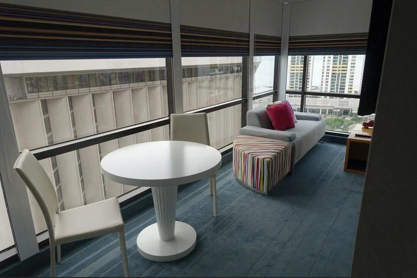 Living area inside the AloftSuite.