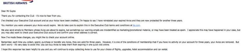 BA Email