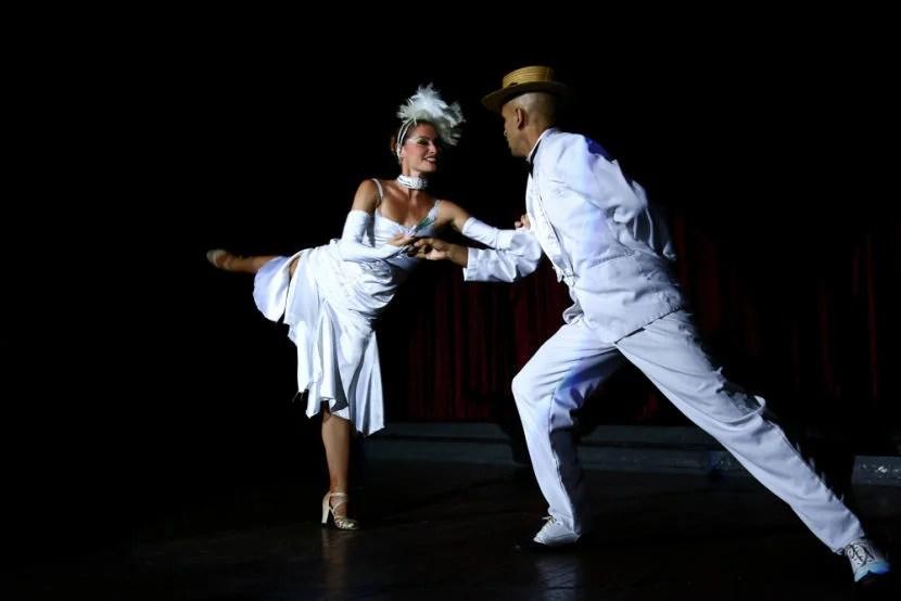 Dancers at the Parisien Cabaret show.