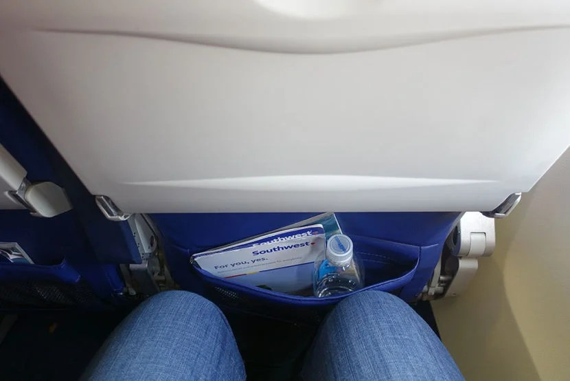I felt a little cramped in my seat.