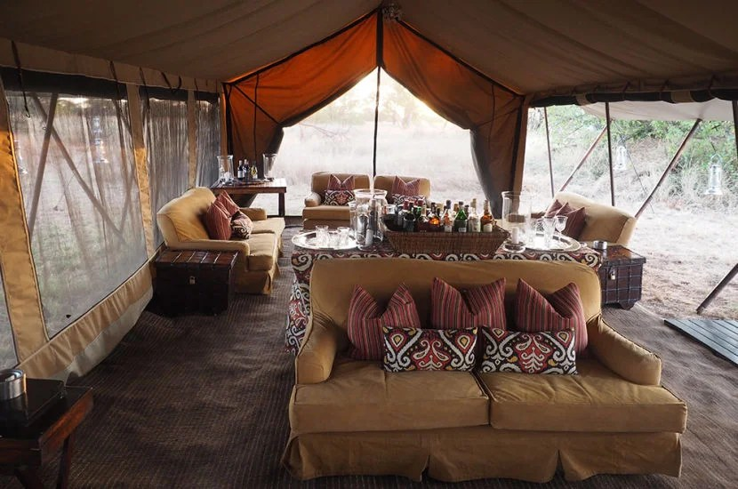There's no doubt that the &Beyond camp area was not your average safari experience.