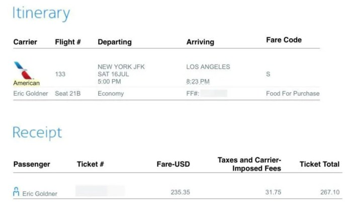 The cheapest flight to position me in Los Angeles for the start of my mileage run was in AA economy for $267.10.