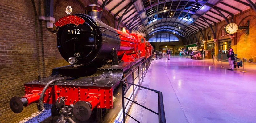 Hogwarts Express at Warner Bros. Studio in London.