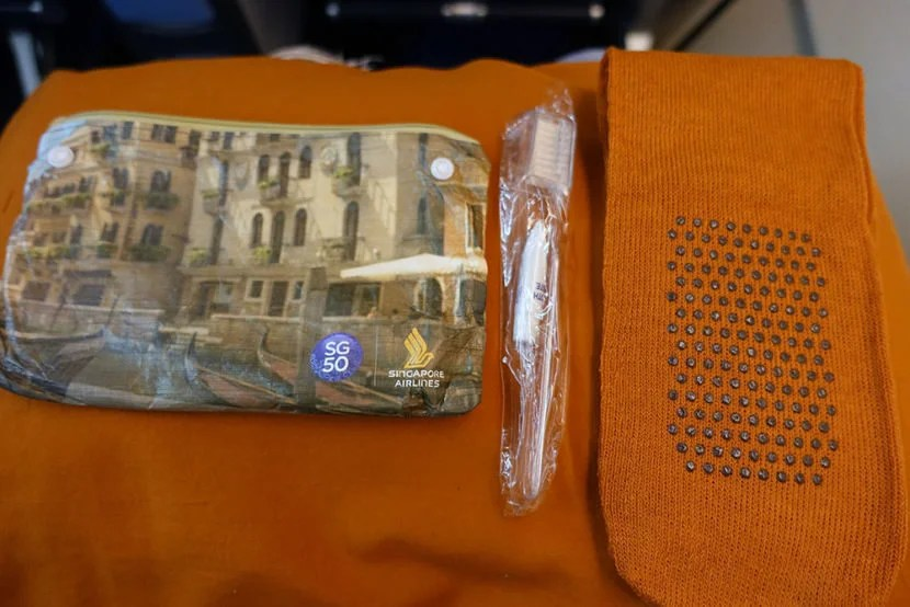 A very small amenity kit was passed out.