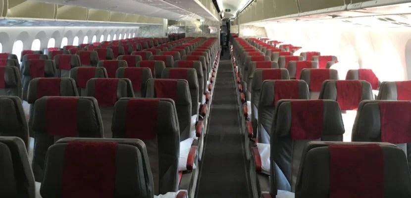 The Economy Cabin of RAM's 787.