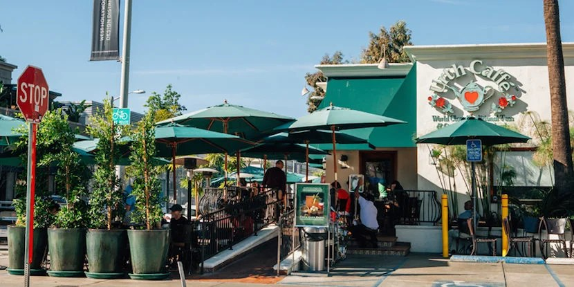 Take a break from Design-District shopping at Melrose celebrity haunt Urth Caffé. Imagecourtesy of Visit West Hollywood.