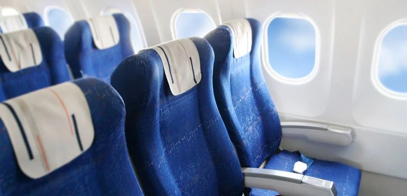 Airplane seats. Image courtesy of Shutterstock.
