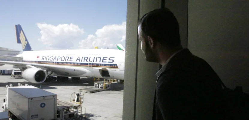 Brian before flying on Singapore Airlines.