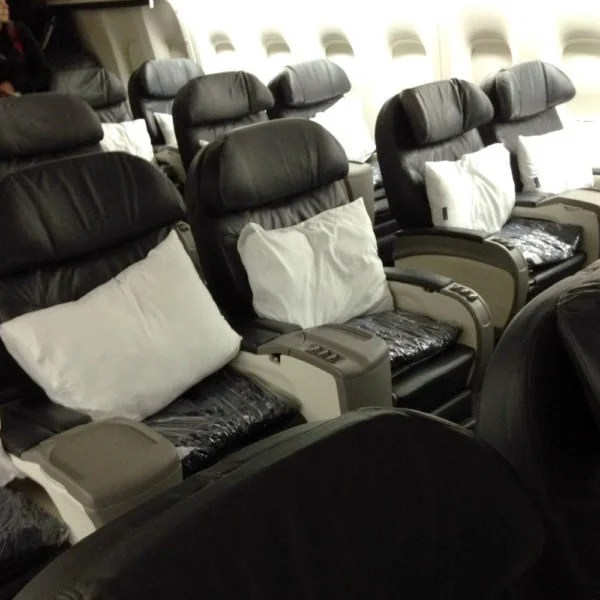 United's 2-3-2 first class. Image courtesy of Mommy Points.
