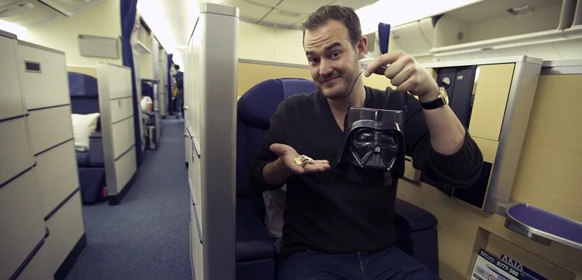 Brian and Darth Vader on ANA